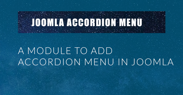 Joomla Accordion Menu Lite