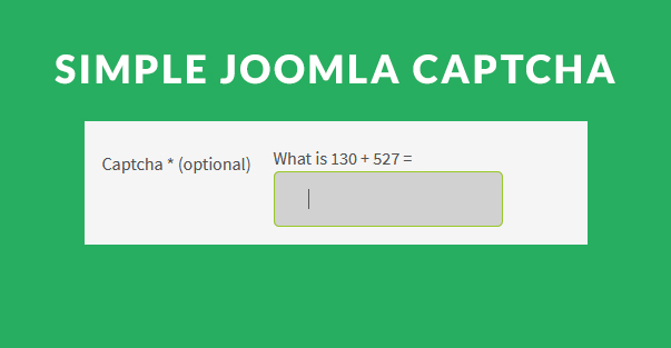 Simple Joomla Captcha plugin