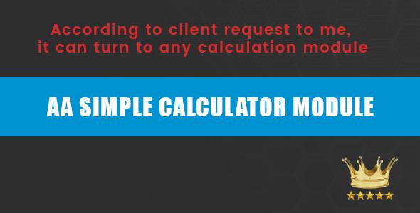 AA SIMPLE CALCULATOR MODULE
