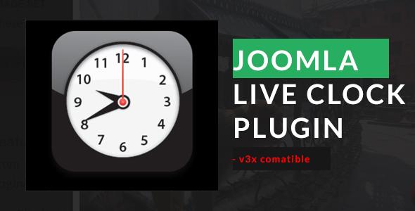 Joomla Live Clock Plugin