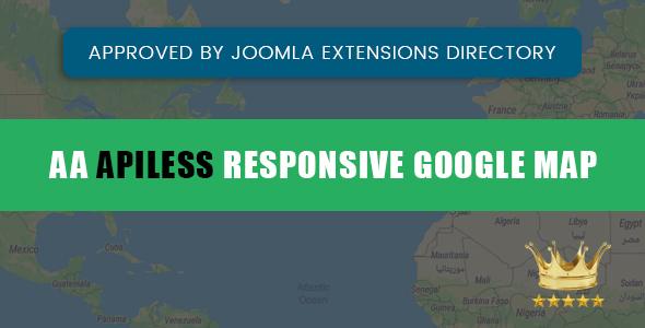 JOOMLA  APILESS RESPONSIVE GOOGLE MAP