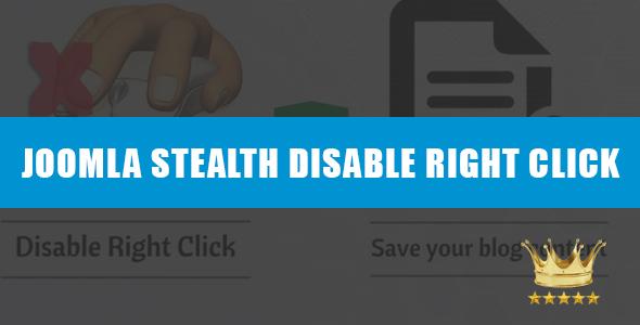 Stealth Disable Right Click Joomla Module