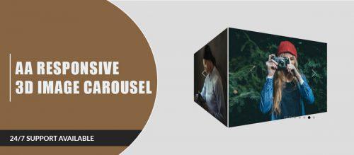 AA Responsive 3D Image Carousel