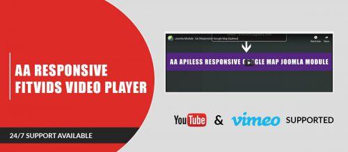 AA Responsive Fitvids Video Player