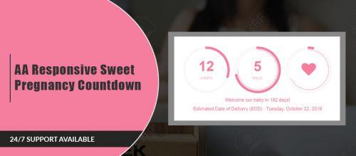 AA Sweet Pregnancy Countdown