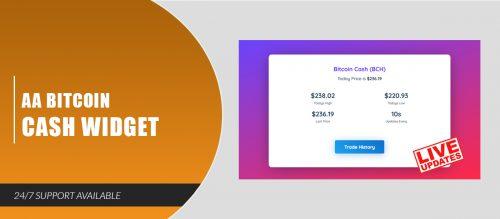 AA Bitcoin Cash Widget