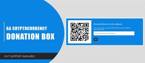 AA Cryptocurrency Donation Box