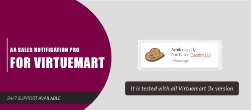 AA Sales Notification Pro for Virtuemart
