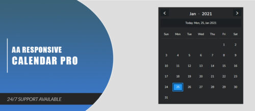 AA Responsive Calendar Pro