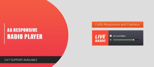 AA Responsive Radio Player