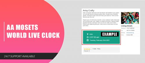 AA Mosets World Live Clock